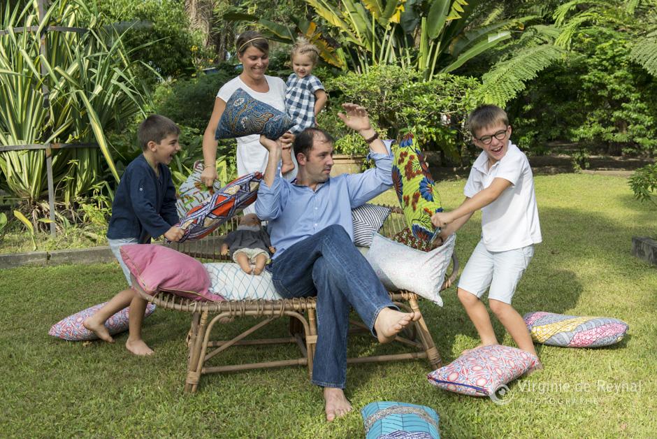 Séance photo de la chouette famille d'Elisabeth à Port-Gentil, au Gabon